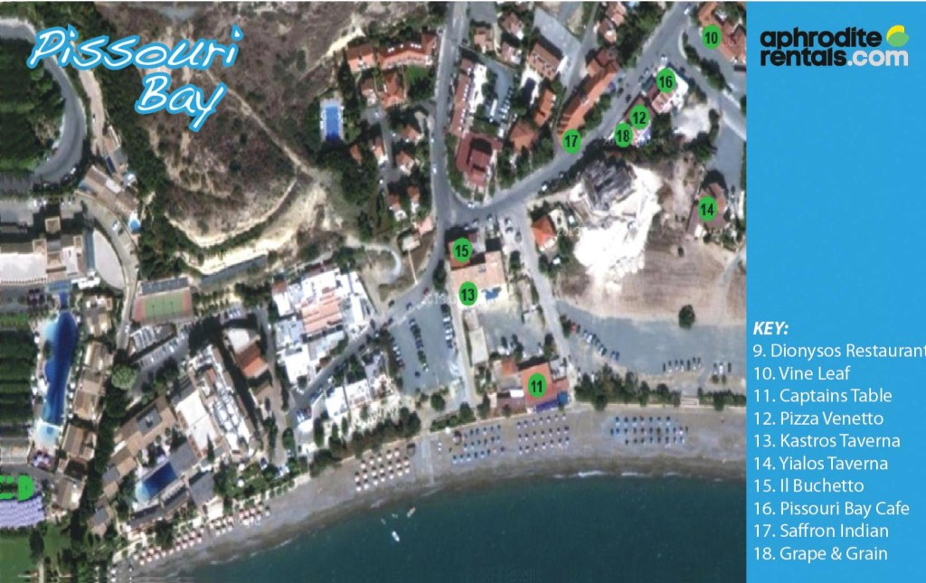 Pissouri Bay map