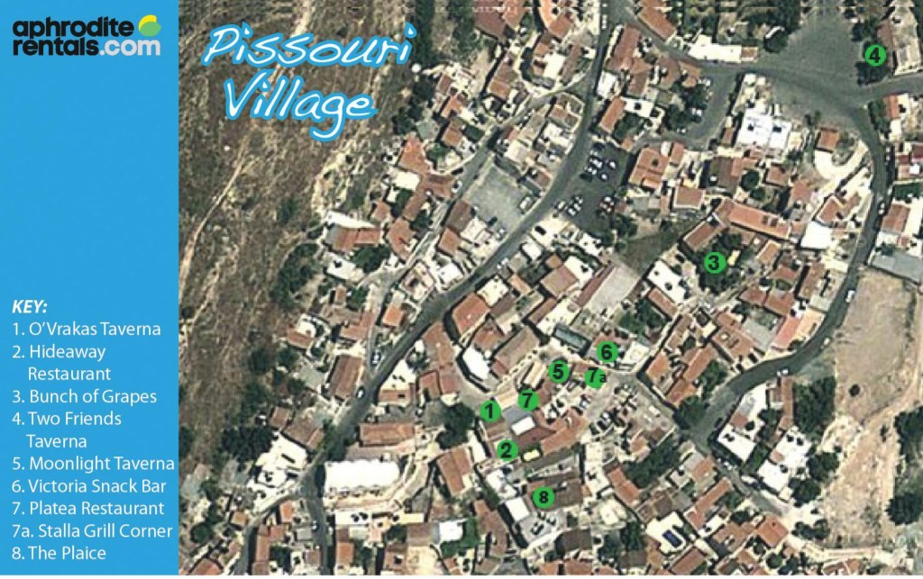 Pissouri Village map