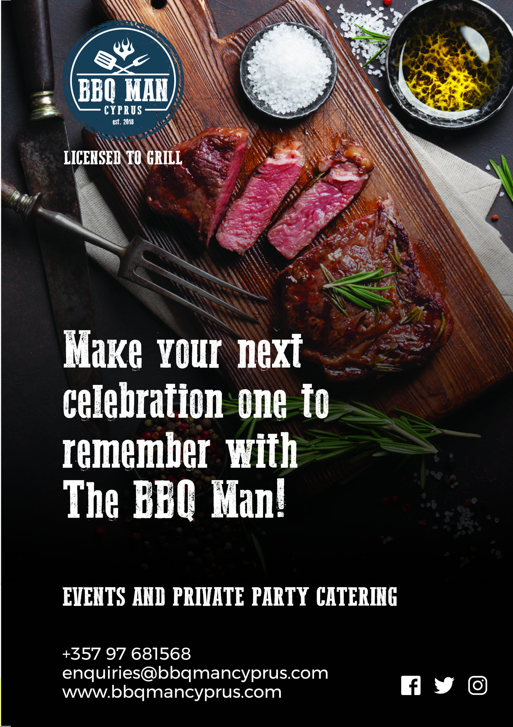 Advert for BBQmancyprus