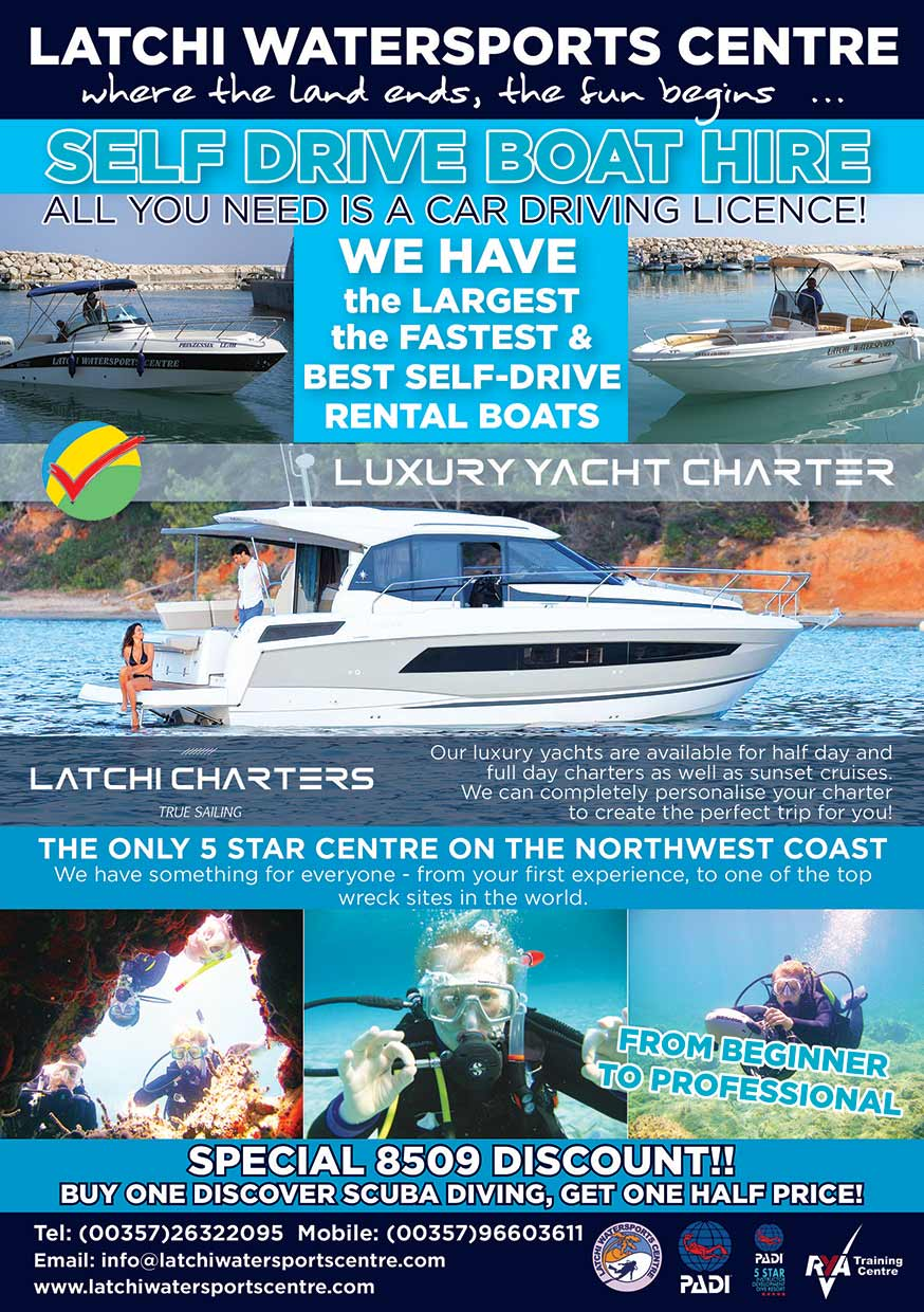 Latchi Watersports advert 2020