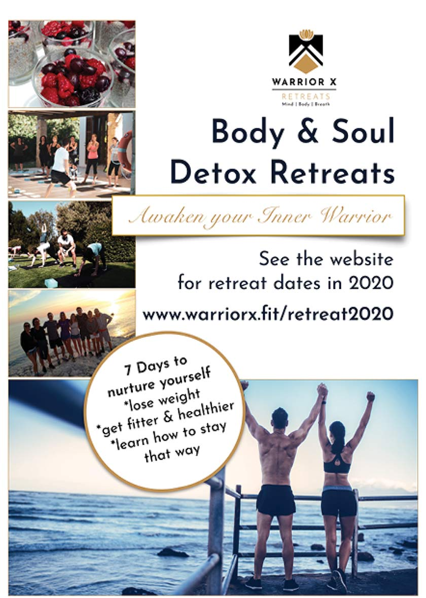 Warrior X Retreats advert 2020